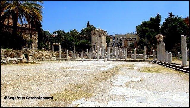 Avludan bir görünüm - Atina Gezilecek Yerler - Roma Agorası