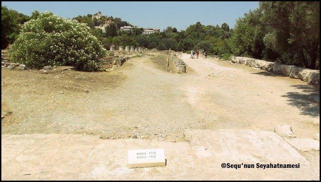 Middle Stoa - Atina Ancient Agora Gezilecek Yerler