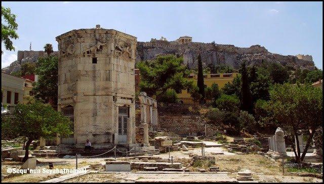 Rüzgar Kulesi - Atina Gezilecek Yerler - Roma Agorası