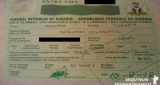 Nijerya Vizesi Nasil Alinir 2019 Sequ Nun Seyahatnamesi
