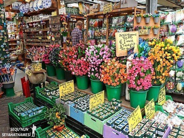 Amsterdam Çiçek Pazarı